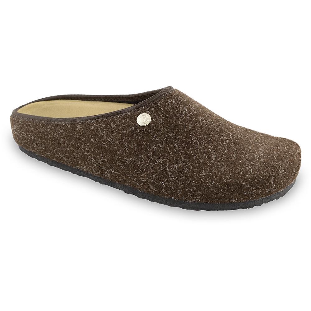 RABBIT Men's winter domestic shoes - felt (40-49) - brown, 46