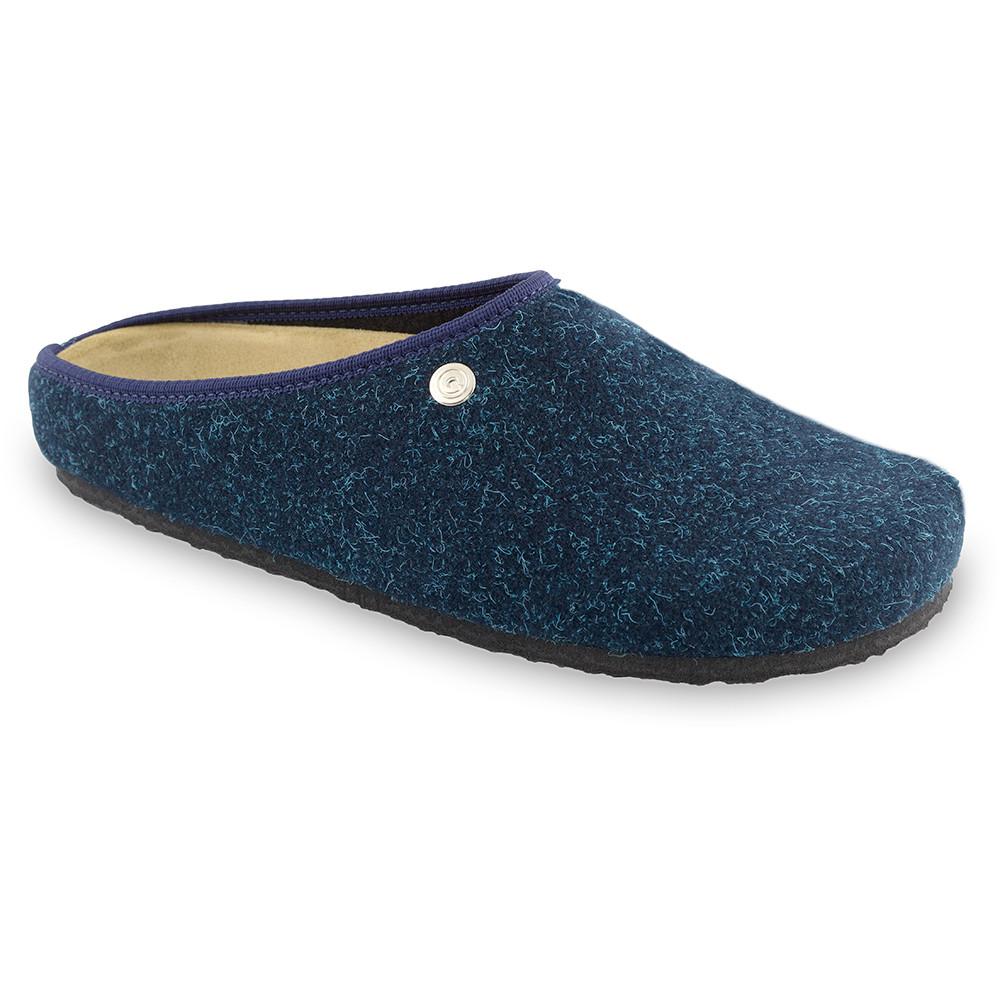 RABBIT Men's winter domestic shoes - felt (40-49) - blue matte, 47