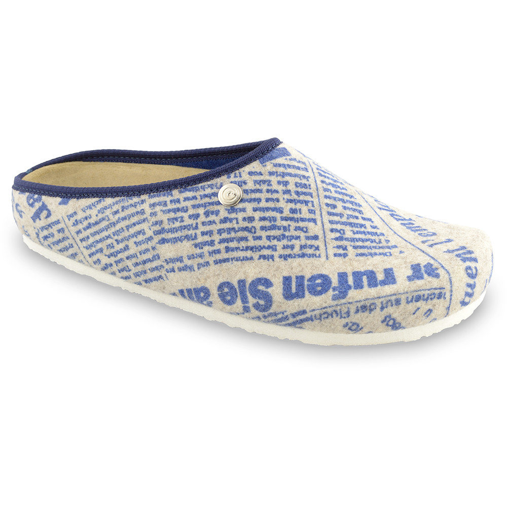 RABBIT Men's winter domestic shoes - felt (40-49) - patterned, 49