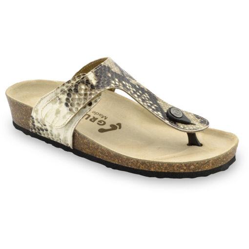 TAKOMA Women's leather flip flops (36-42)