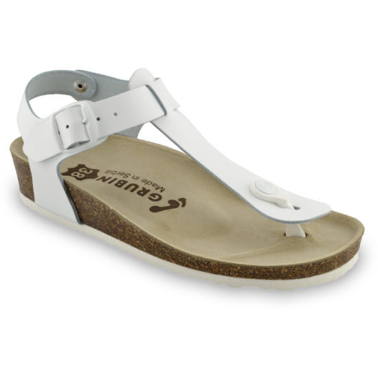 TOBAGO Women's sandals with thumb support - leather (36-42)