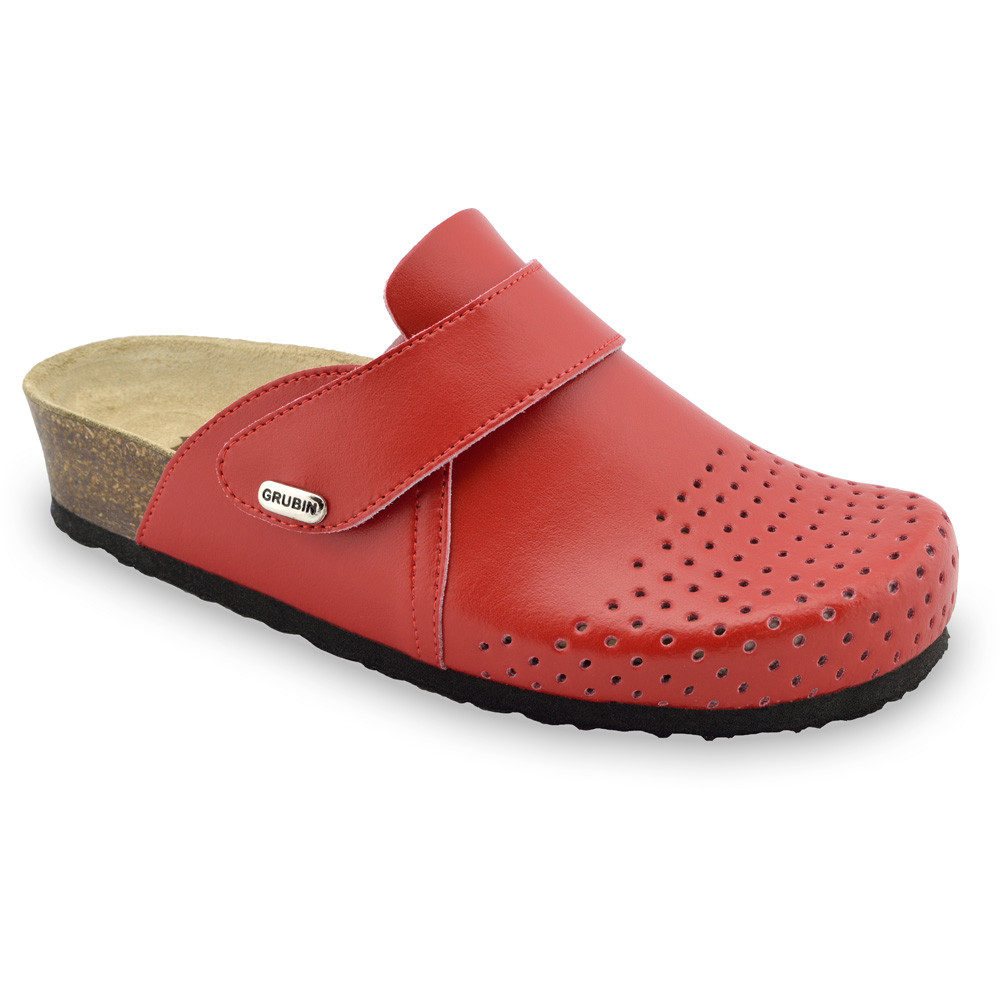 OREGON Women's closed slippers - leather (36-42)