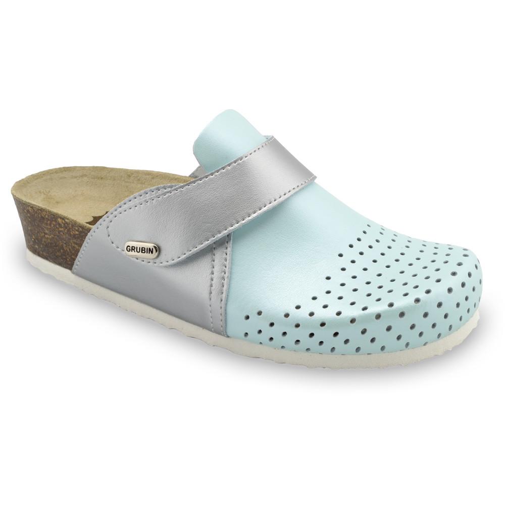 OREGON Women's closed slippers - caste leather (36-42) - light blue, 42
