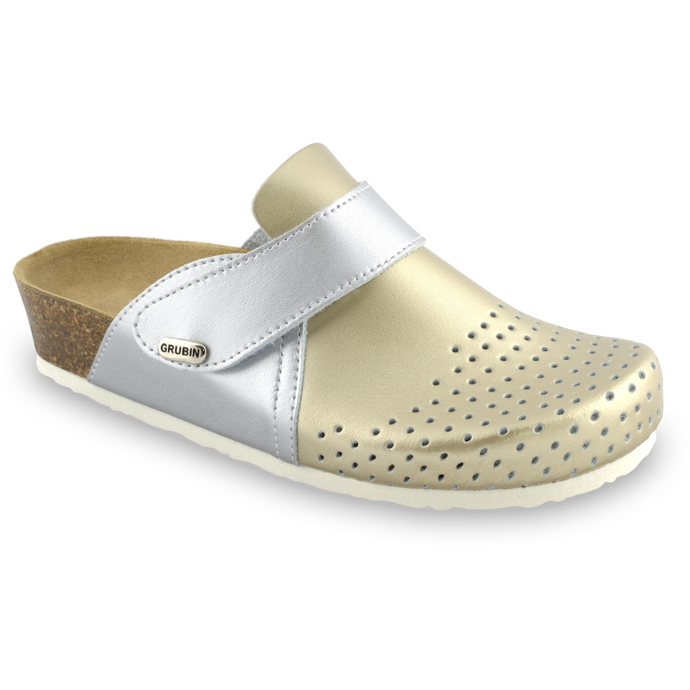 OREGON Women's closed slippers - caste leather (36-42) - gold, 41