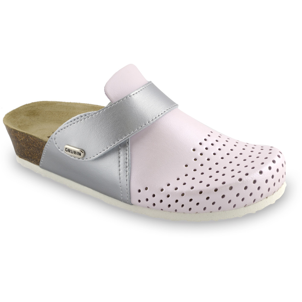 OREGON Women's closed slippers - caste leather (36-42) - pink, 41