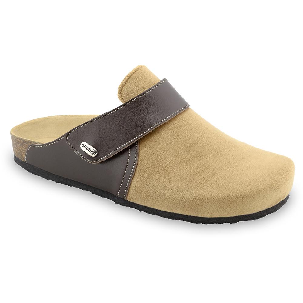 OREGON Men's winter domestic footwear - plush (40-49) - light brown, 42