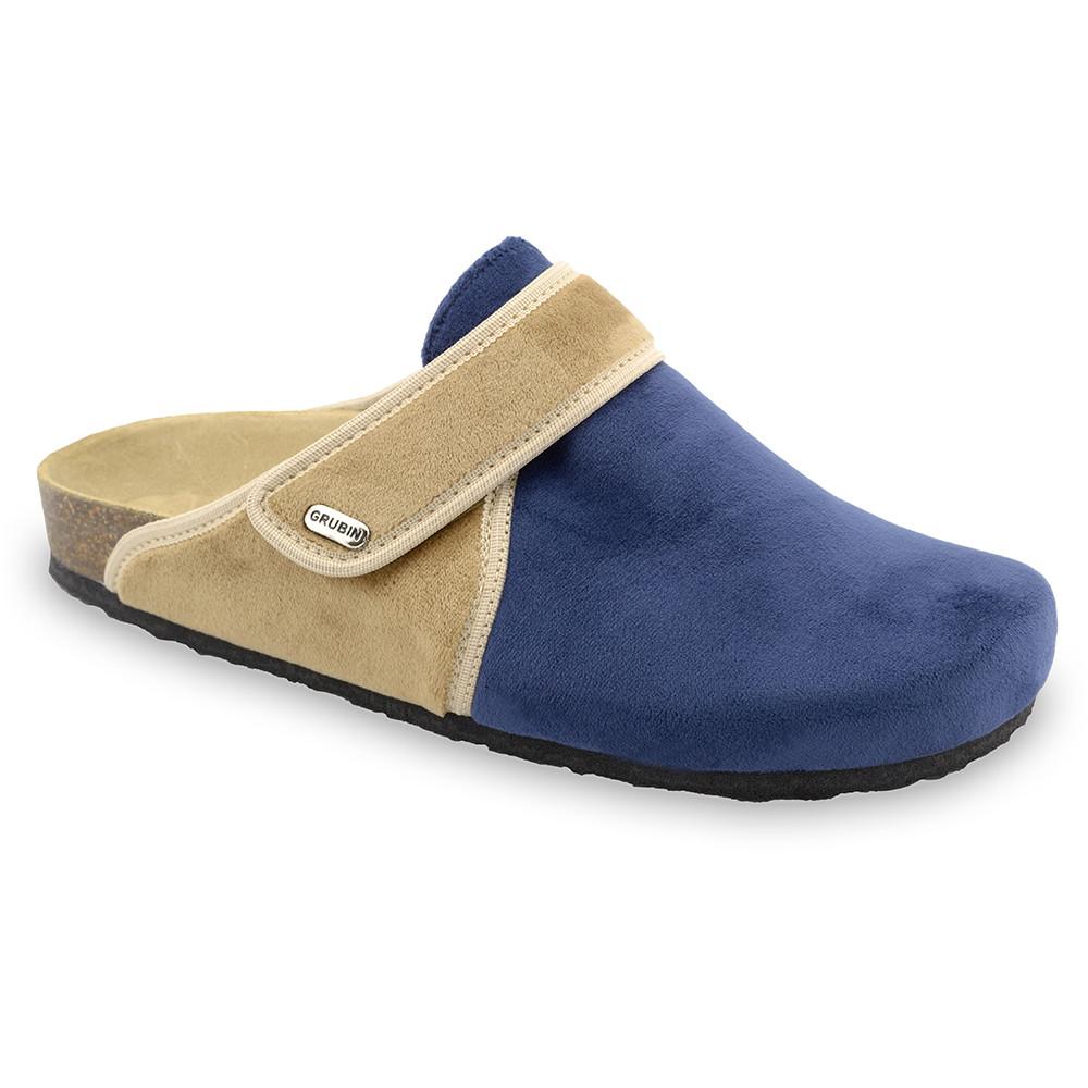 OREGON Men's winter domestic footwear - plush (40-49) - blue matte, 46
