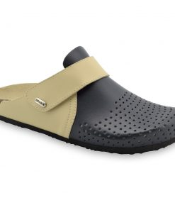 OREGON Men's closed slippers - leather (40-49)