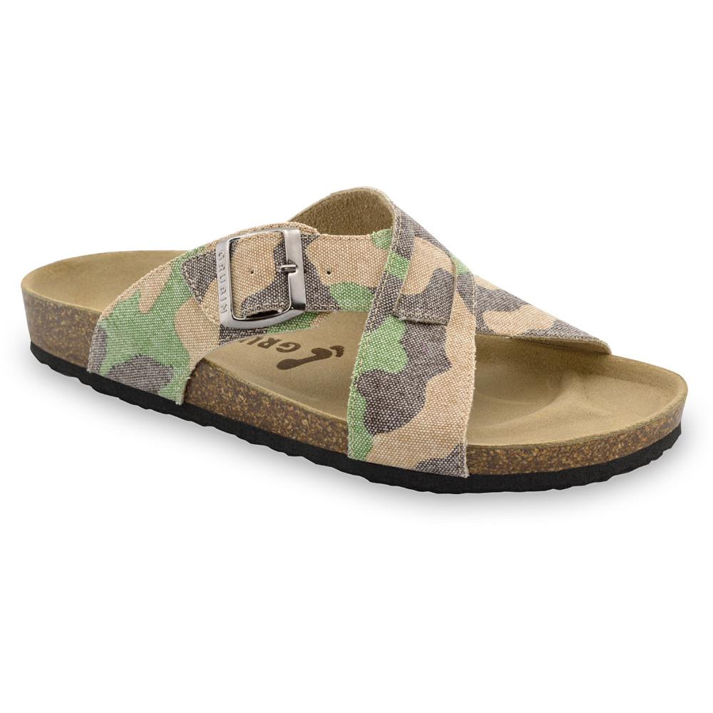 BORSALLINO Men's slippers - cloth (40-49) - military, 42