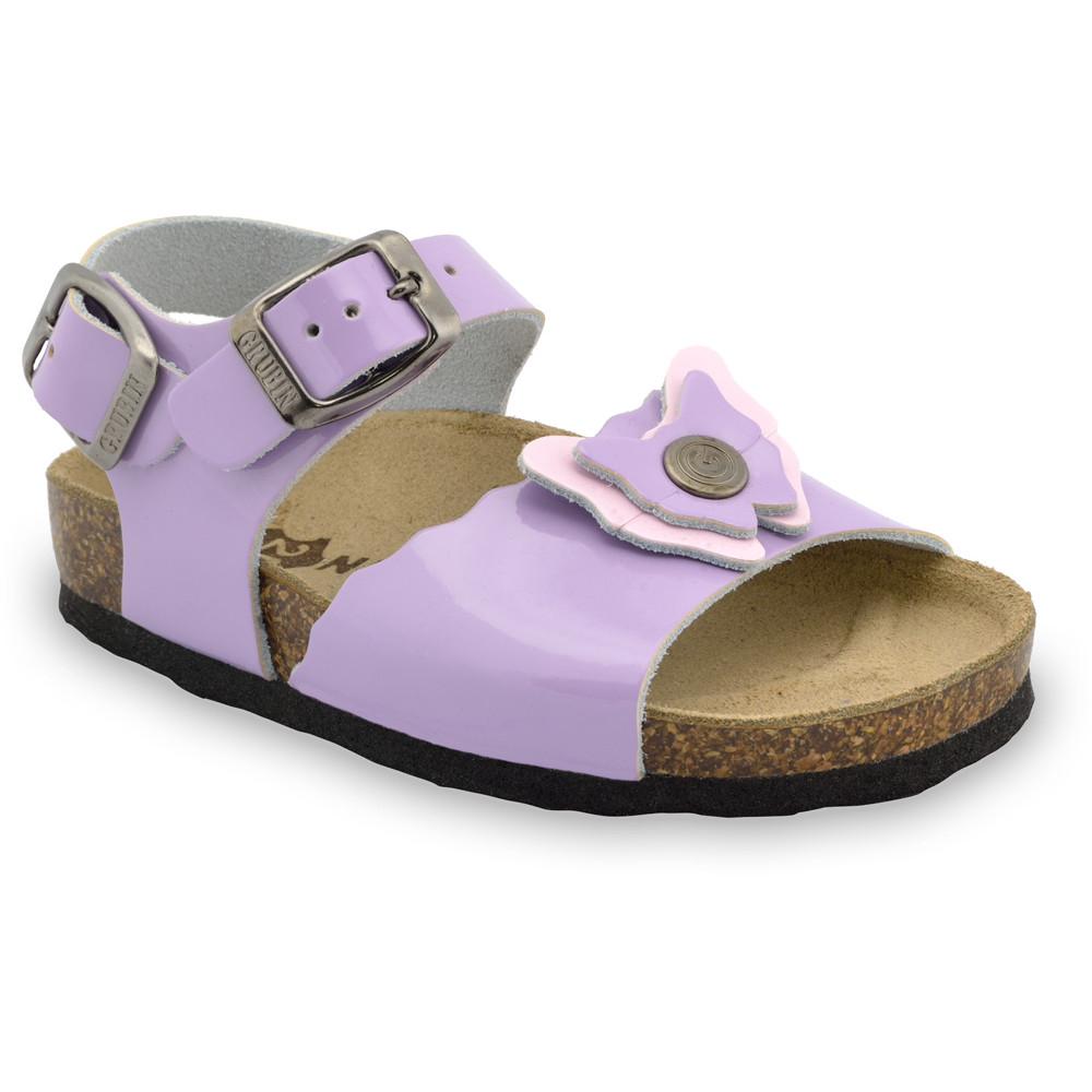 BUTTERFLY Kids sandals - leather (23-29) - purple, 23