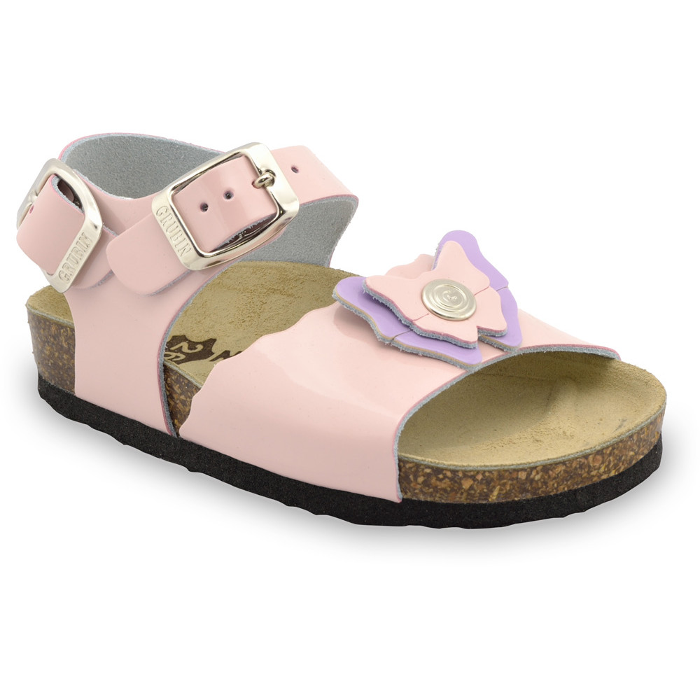 BUTTERFLY Kids sandals - leather (30-35) - cream, 32