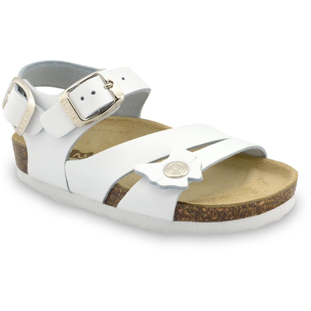 KATY Kids leather sandals (23-29) - white, 25