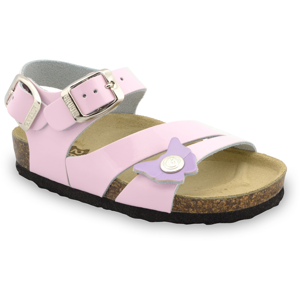 KATY Kids sandals - leather (23-29) - pink, 25