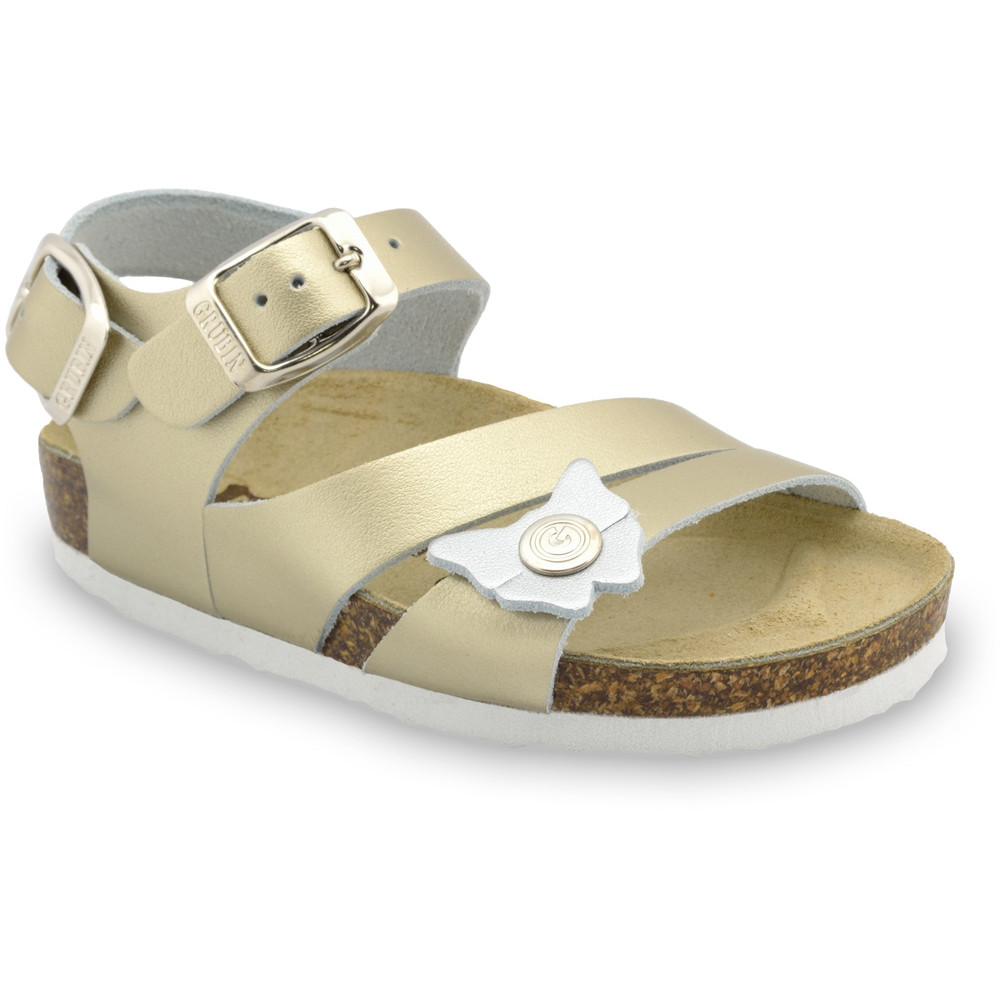 KATY Kids leather sandals (30-35) - gold, 31