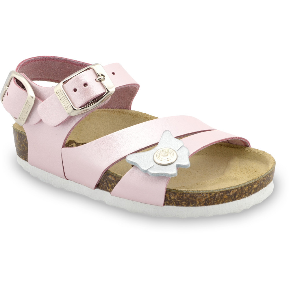 KATY Kids leather sandals (30-35) - pink, 34