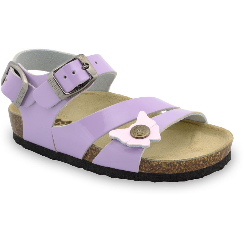 KATY Kids sandals - leather (30-35) - purple, 32