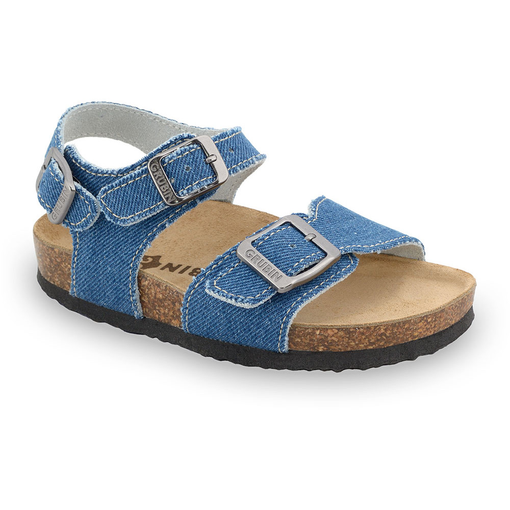 ROBY Kids sandals - cloth (23-29) - blue, 28