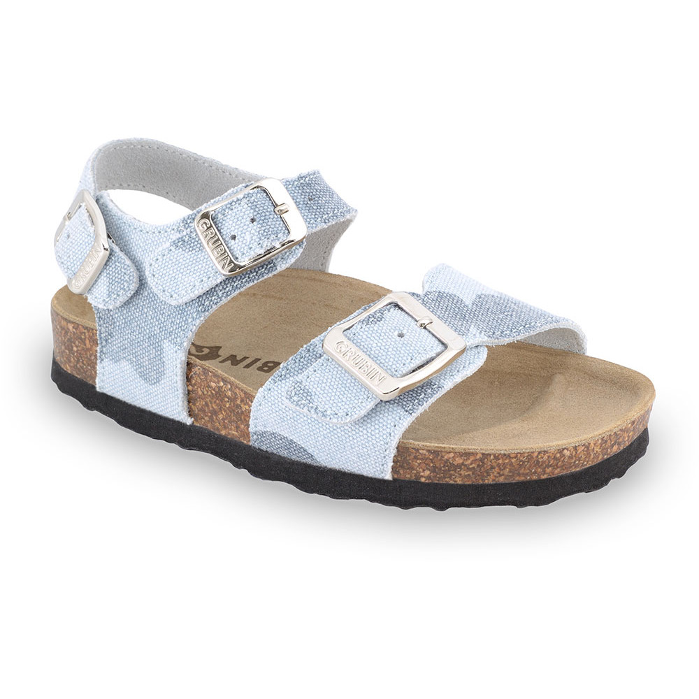 ROBY Kids sandals - cloth (23-29) - light blue, 26