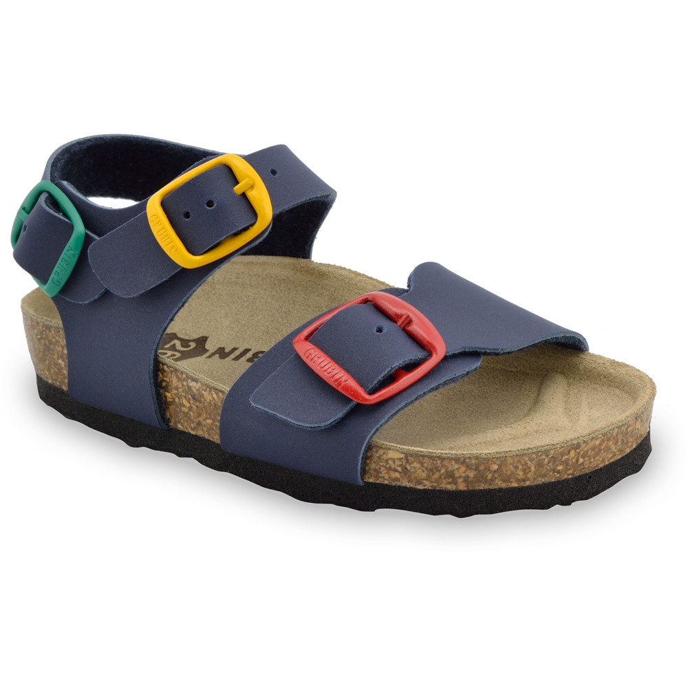 ROBY Kids sandals - leatherette (23-29) - blue, 23