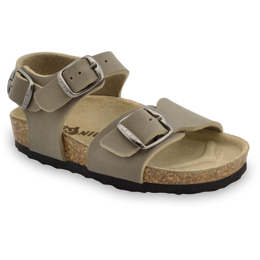 ROBY Kids sandals - leatherette (23-29) - brown, 26