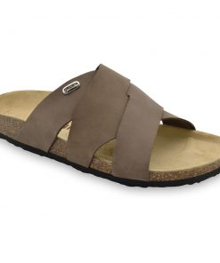 MORANDI Men's slippers - nubuk leather (40-49)