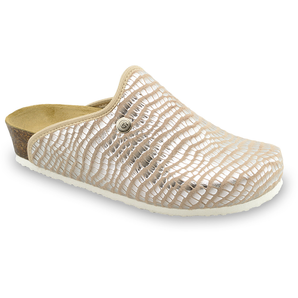 CAKI Women's winter domestic footwear - plush (36-42) - brown viper, 40