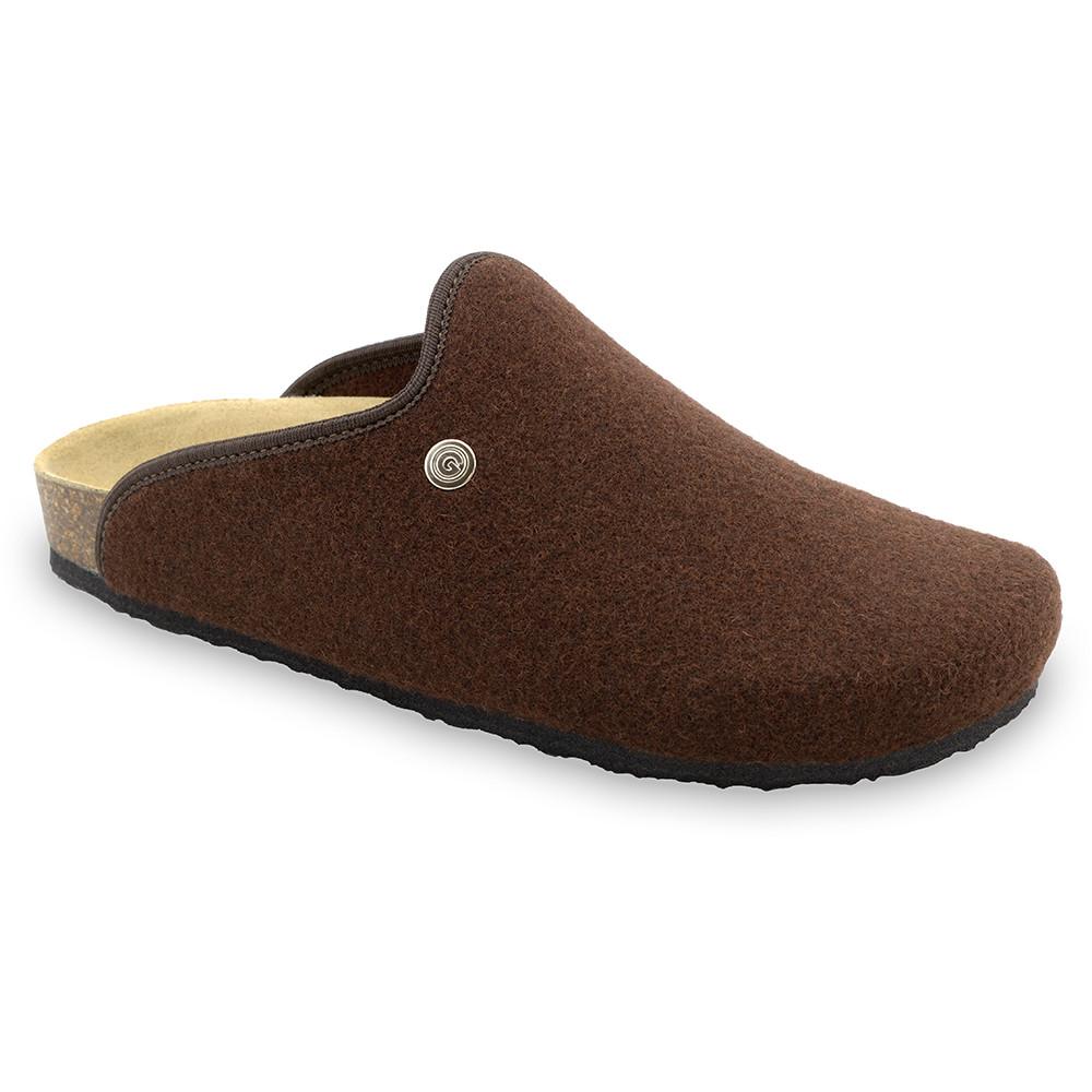 CAKI Men's winter domestic shoes - felt (40-49) - brown, 43