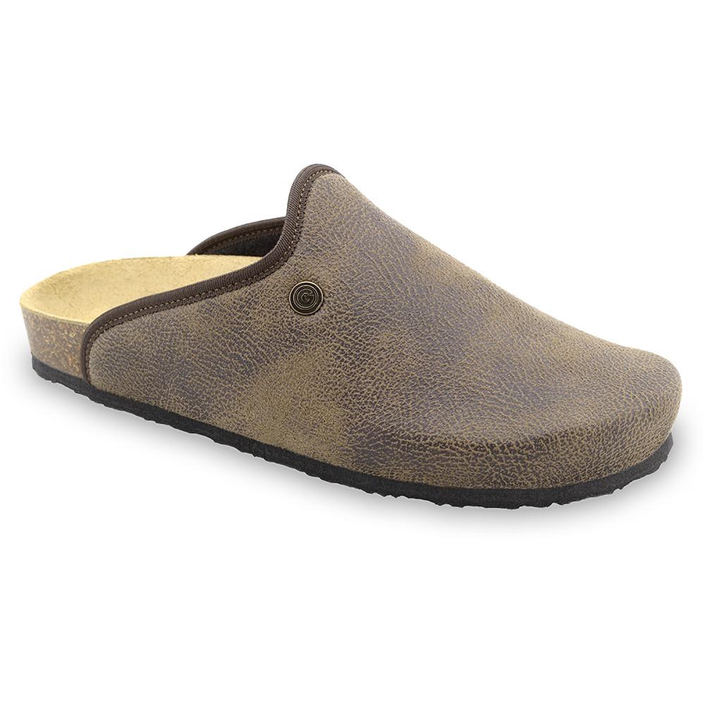 CAKI Men's winter domestic footwear - plush (40-49) - brown, 49