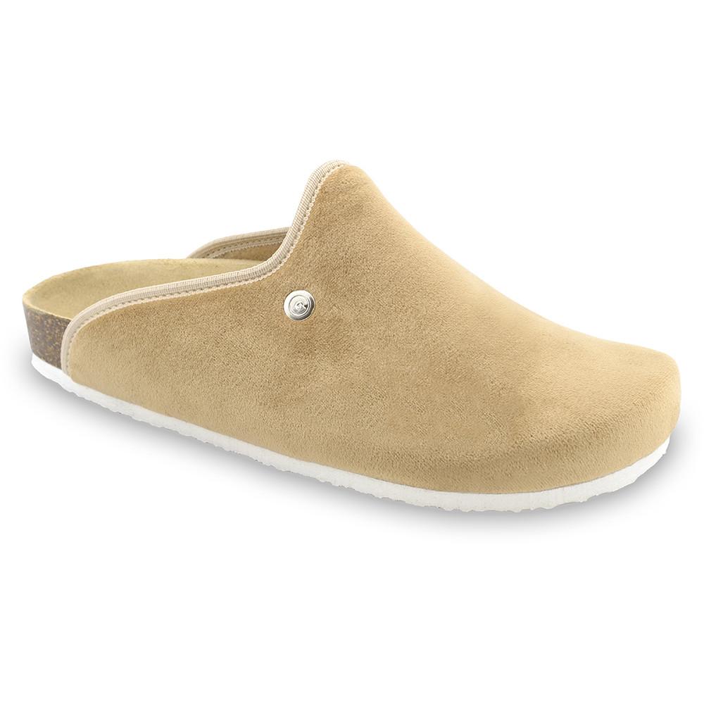 CAKI Men's winter domestic footwear - plush (40-49) - cream, 46