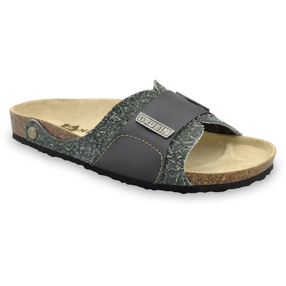 DARKO Men's slippers - leather (40-49) - grey, 40