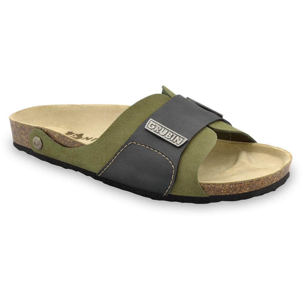 DARKO Men's slippers - leather (40-49) - green, 49