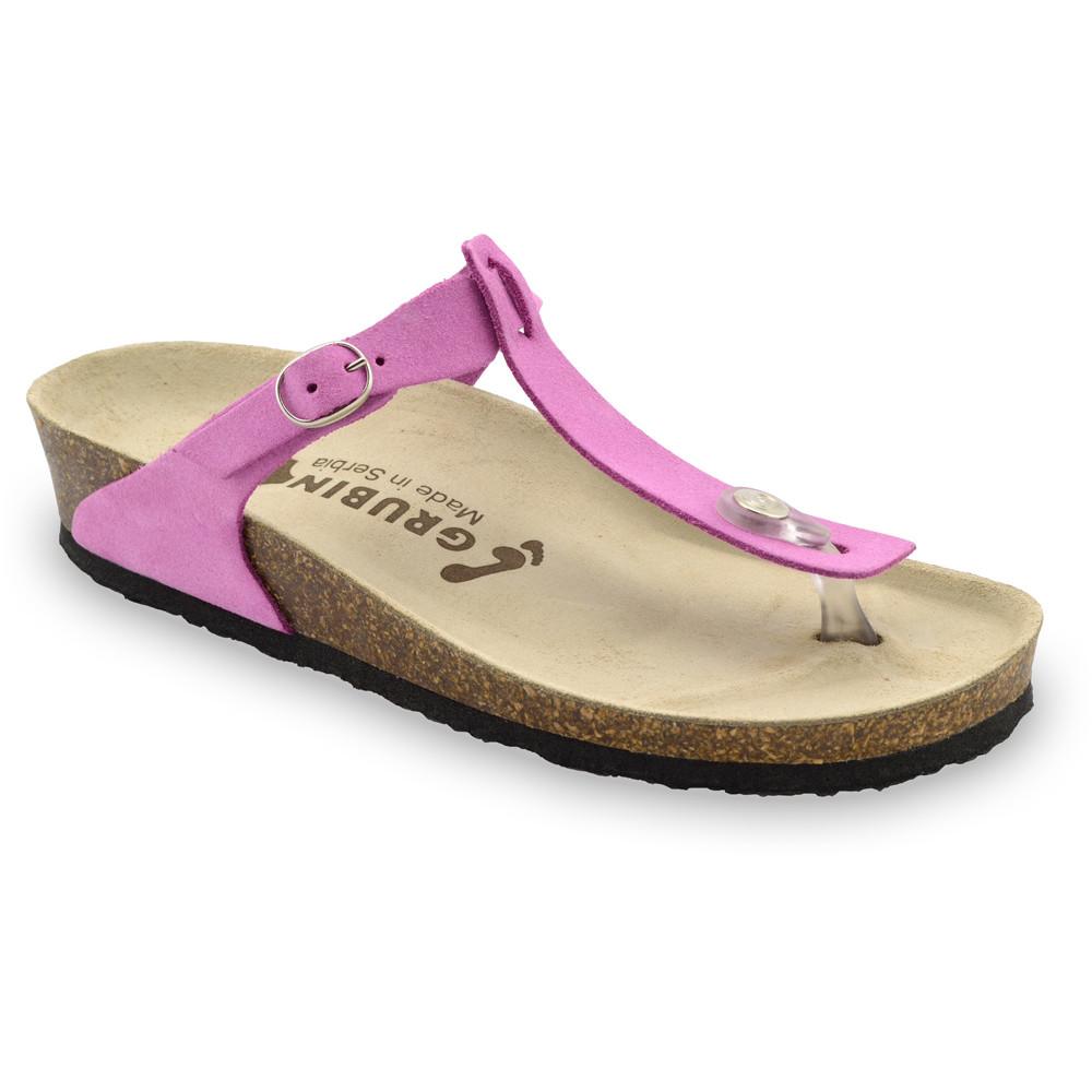 MICADO Women's leather flip flops (36-42) - pink, 38