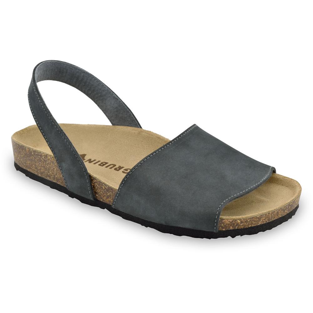 BOSS Men's sandals - nubuk leather (40-49) - dark grey, 43