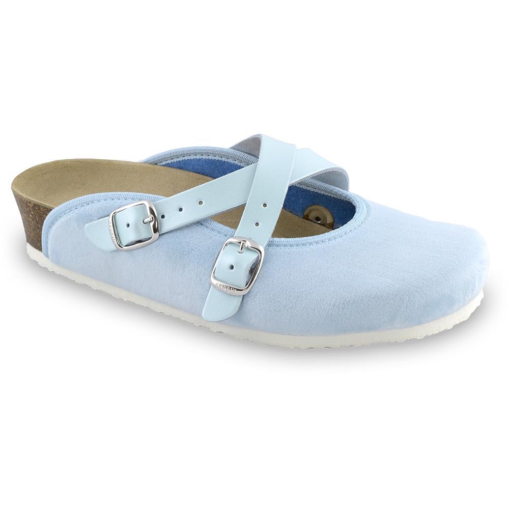 AFRODITA Women's winter domestic footwear - plush (36-42) - light blue, 42