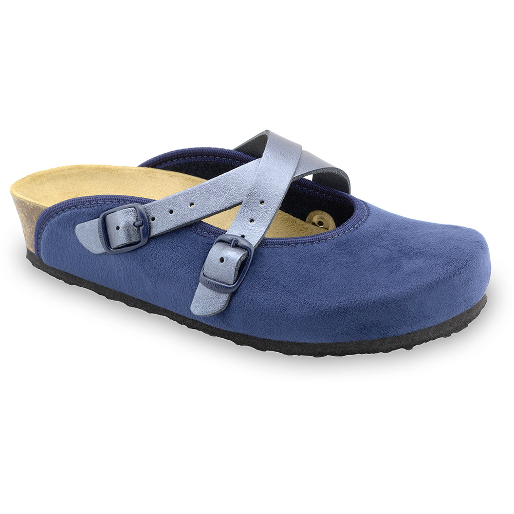 AFRODITA Women's winter domestic footwear - plush (36-42) - blue, 38