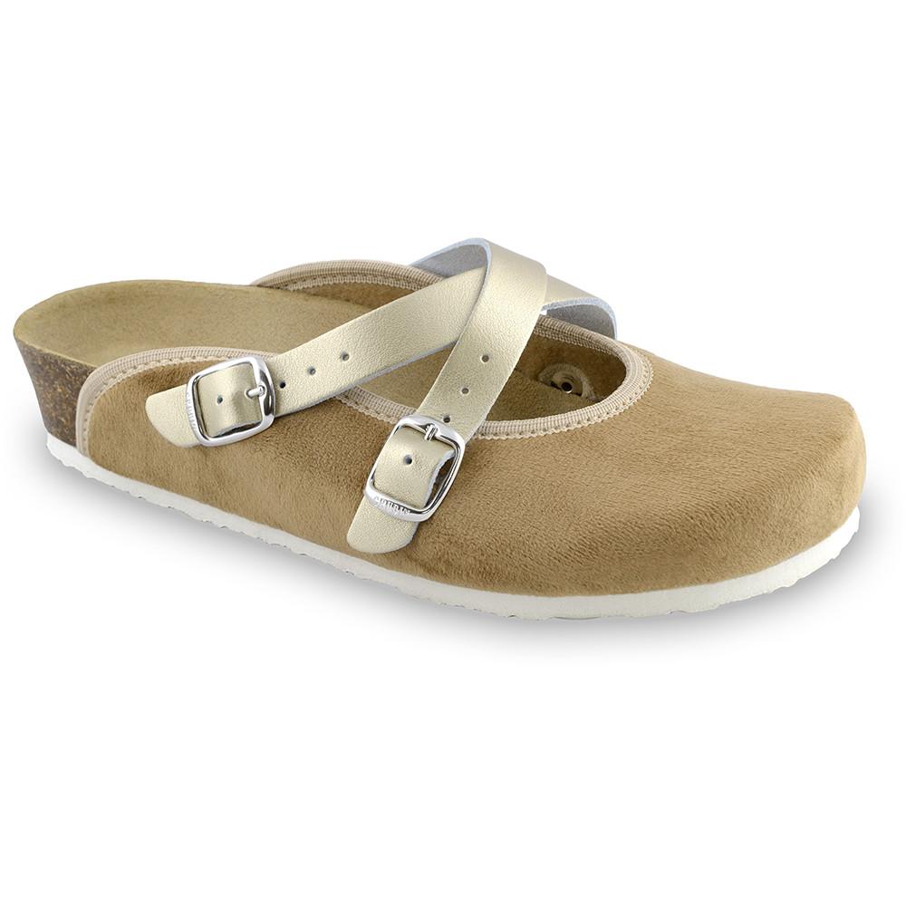 AFRODITA Women's winter domestic footwear - plush (36-42) - brown, 41