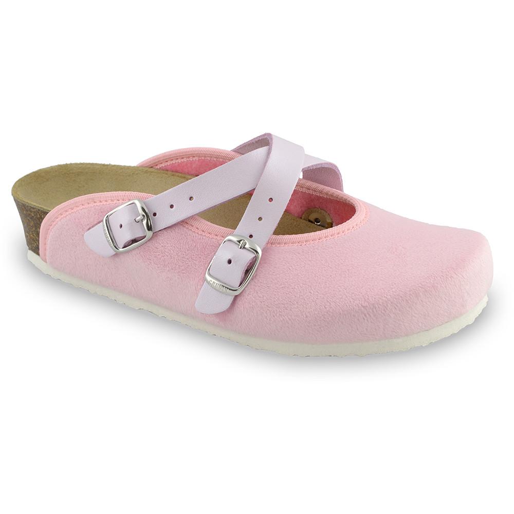 AFRODITA Women's winter domestic footwear - plush (36-42) - light pink, 37