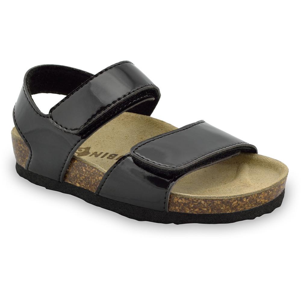 DIONIS Kids sandals - leatherette (23-29) - black, 24