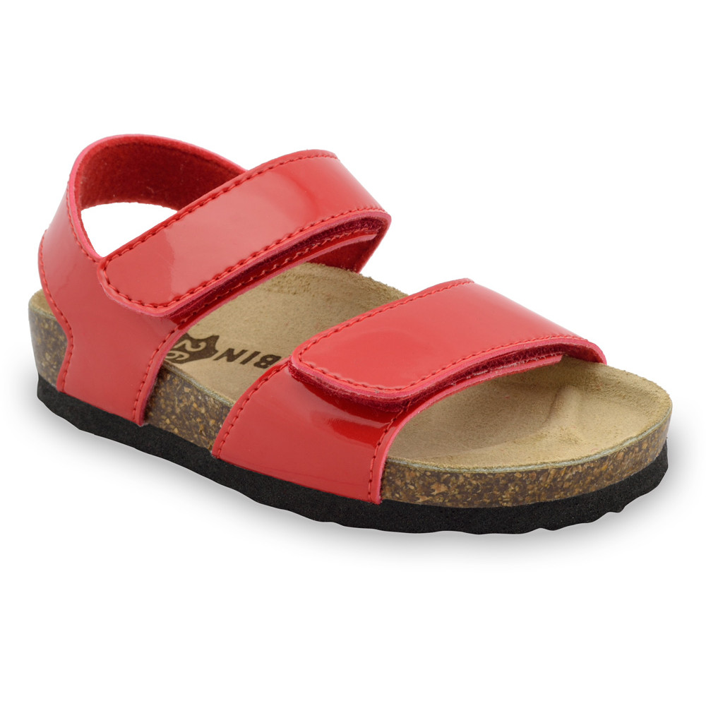 DIONIS Kids sandals - leatherette (23-29) - red, 29