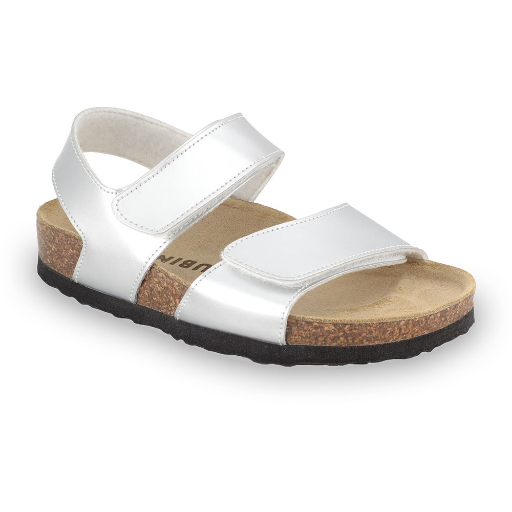 DIONIS Kids sandals - leatherette (23-29) - silver, 25