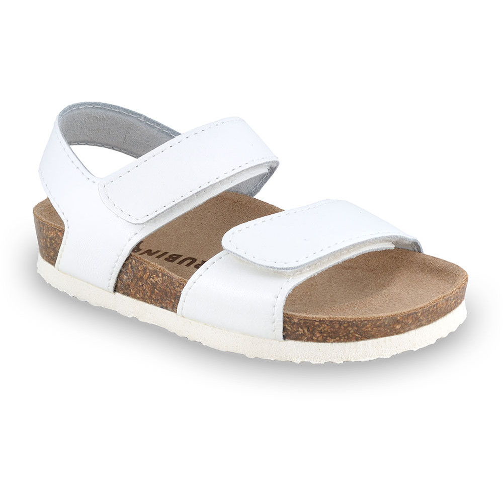 DIONIS Kids sandals - leather (23-29) - white, 28