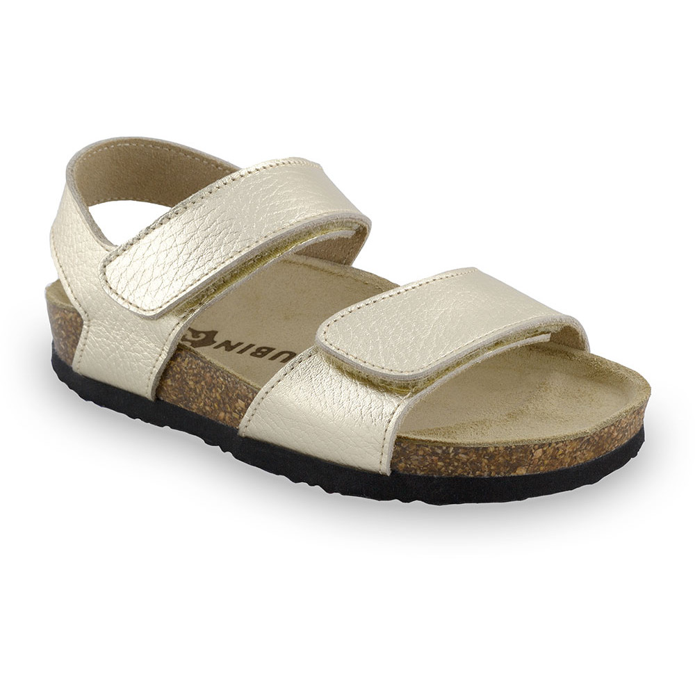 DIONIS Kids sandals - leather (23-29) - gold, 29