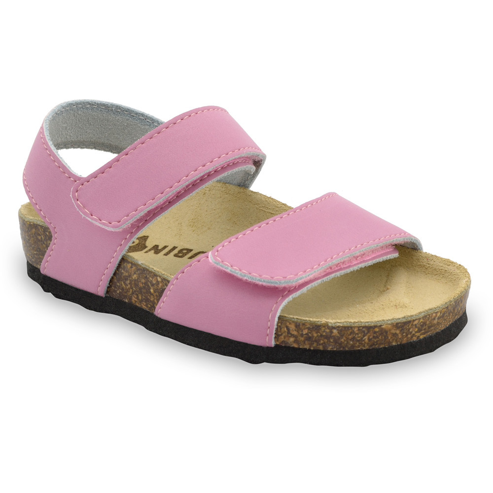 DIONIS Kids sandals - leather (23-29) - pink, 23