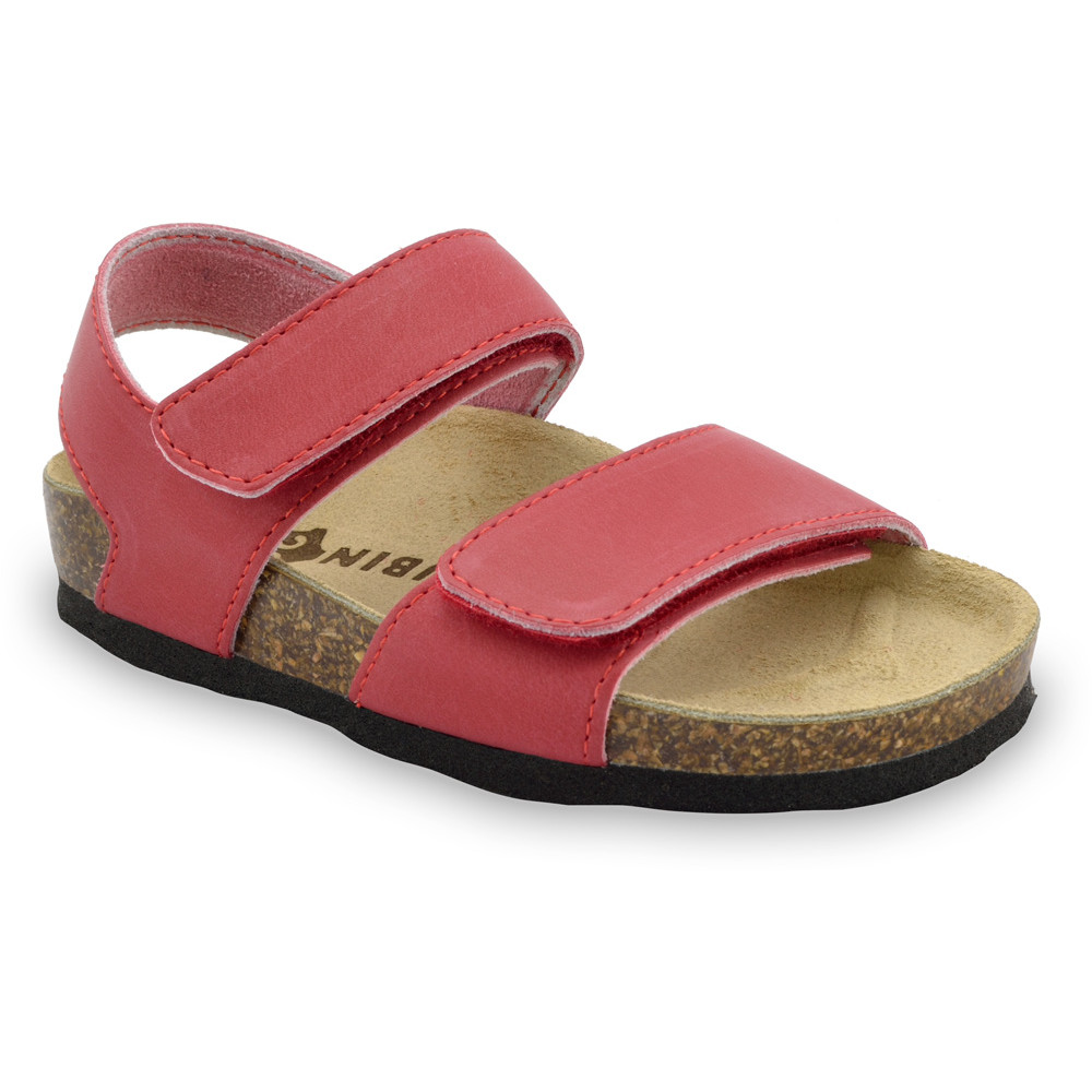 DIONIS Kids sandals - leather (23-29) - red, 27