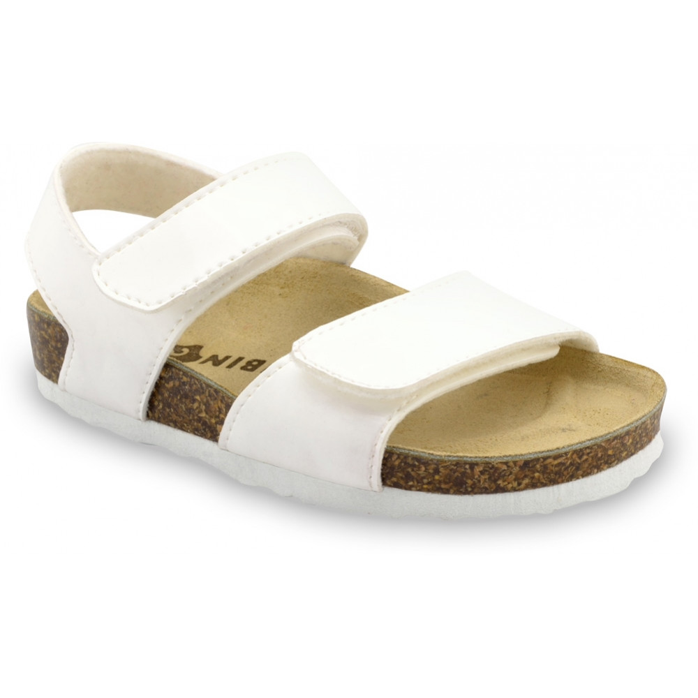 DIONIS Kids sandals - leatherette (30-35) - white, 35