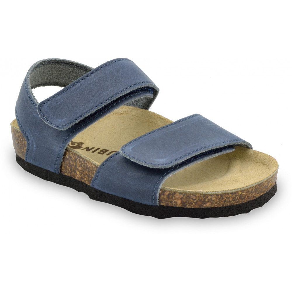 DIONIS Kids sandals - leather (30-35) - blue, 32