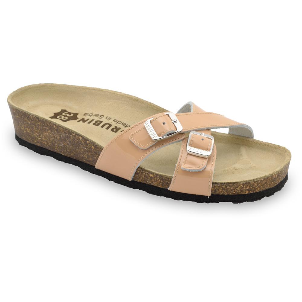 MODENA Women's leather slippers (36-42) - powder, 42