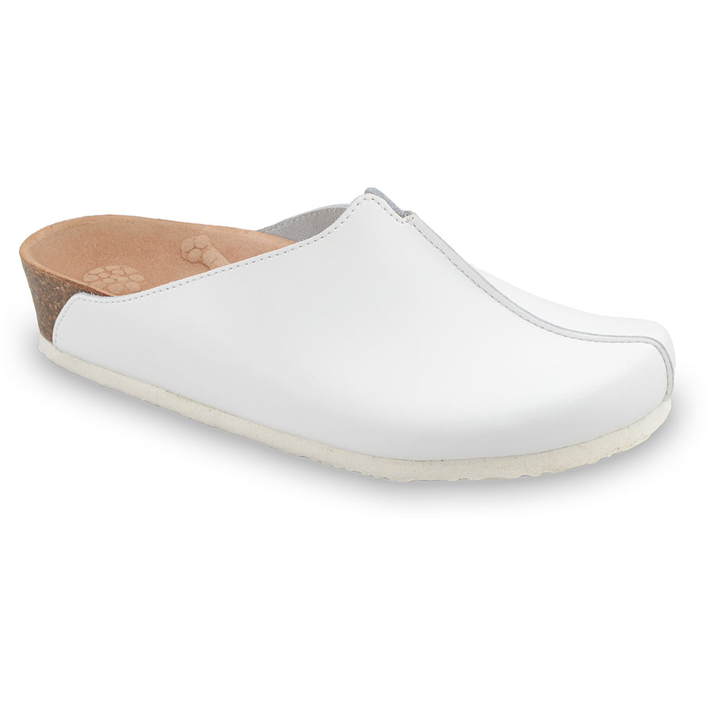 TRISTAN Women's leather closed slippers (37-41)