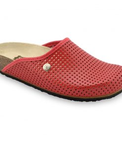 TERRA Women's leather closed slippers (36-42)
