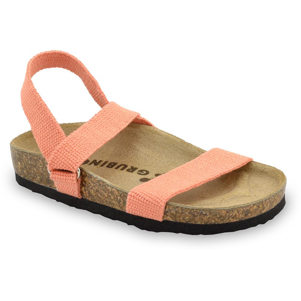 RAMONA Kids sandals - cloth (23-29) - orange, 26